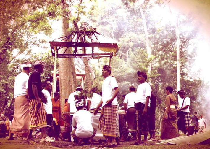 A cremation ceremony. Ubud, Indonesia.