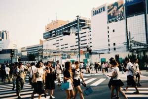 People in the streets of Tokyo