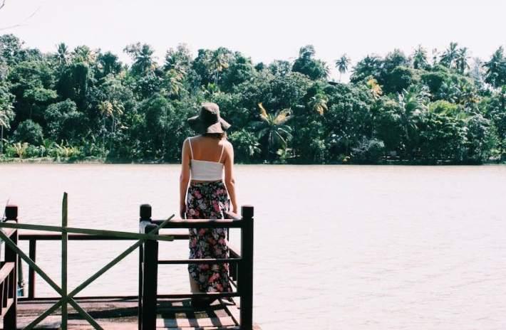 View of Kerala's backwaters