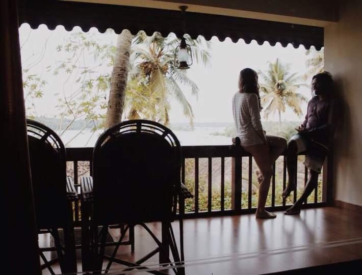 Two travellers at Fragrant Nature in Kollam Kerala